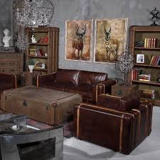 echtleder sofa grena 3 sitzer in echtleder antikbraun