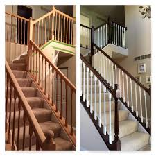 Painted Banisters Before And After Of A Railing Project We Sanded Stripped The