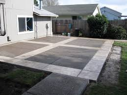 Concrete Slabs For Backyard by Backyard Concrete Patio Ideas