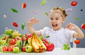 Wallpaper Children Wallpaper Little Girls Happy Children Tomatoes Apples Bananas Fruit