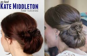 simple kate middleton no heat updo youtube