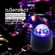mini disco ball light multicolor dj disco light car interior mini disco ball voice
