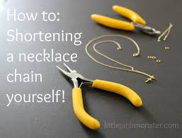 making necklace chain images How to shorten a necklace chain yourself jpg