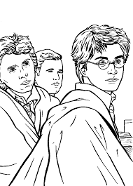 kids n fun com 25 coloring pages of harry potter and the
