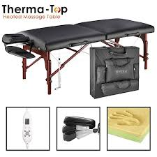 master massage equipment table master massage therma top massage table 31 black 28610 staples