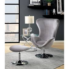 Contemporary Accent Chair Shelia Contemporary Accent Chair W Ottoman Gray