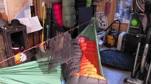 Hammocks For Sleeping Sleeping Bag As Top Quilt In Hammock And Pads Youtube