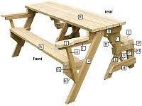 picnic table bench plans folding bench to picnic table instructions page 5