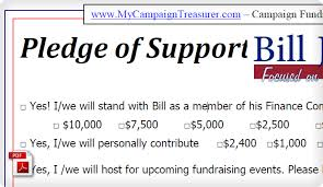Pledge Sheets For Fundraising Template by Political Caign Contribution Form Exle Political