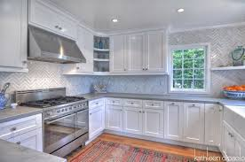 white shaker kitchen cabinets to ceiling zinc countertops contemporary kitchen dipaolo