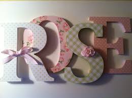 wooden letters for nursery spelling out your by summerolivias
