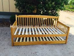 oak wooden daybed with trundle bed buy oak bed with trundle