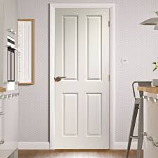Interior 4 Panel Doors 4 Panel Door With Woodgrained Surfaces Is White Primed