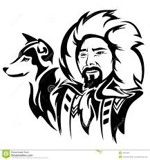 american eskimo dog vector eskimo with dog stock vector image 42810087
