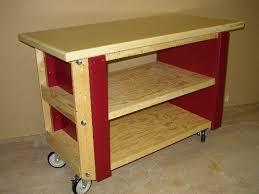 rolling work table plans rolling work cart by treeman lumberjocks com woodworking community