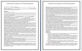 partnership contract template free printable business and legal