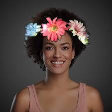 flower headband led big flowered headband
