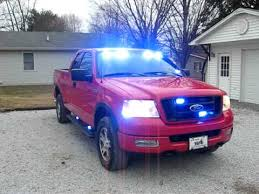 ford f 150 firefighters blue lights