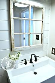 best 25 window pane mirror ideas on pinterest windows decor farmhouse powder room reveal window pane mirror stonegableblog com