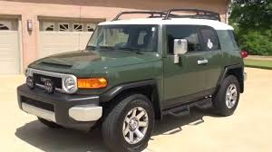 toyota fj hd video 2014 toyota fj cruiser army green for sale see www