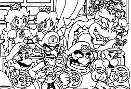 mario bros coloring pages archives best of super smash bros