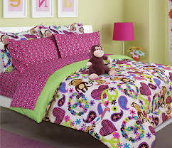 amazon com u0027s peace love and monkey print comforter set with
