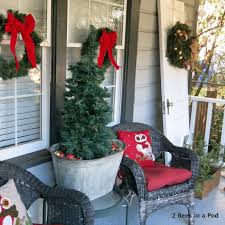 christmas christmas stunning porch trees picture inspirations