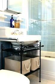 under pedestal sink storage cabinet astounding bathroom pedestal sink storage cabinet derekhansen me