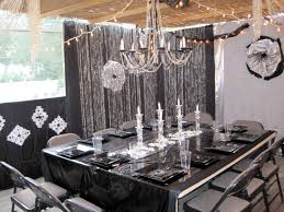 Black Table Centerpieces by Black And Silver Party Decorations Party Favors Ideas