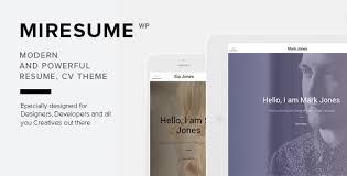 miresume resume cv u0026 portfolio wordpress theme by nrgthemes