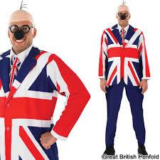 Uk Flag Dress Dangermouse Fancy Dress Costume 80s Superhero Secret Agent Tv