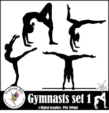 gymnastics clipart silhouette clipart panda free clipart