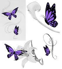 purple butterfly designs pictures to pin on