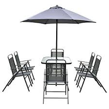 Patio Table And 6 Chairs Giantex 8pcs Patio Garden Set Furniture 6 Folding