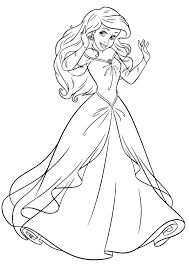 disney princesses coloring pages ariel coloringstar