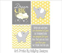 Gray And Yellow Nursery Decor Yellow Gray Nursery Decor Yellow Elephant Wall
