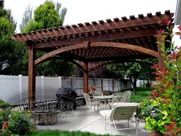 Timber Patio Designs Free Standing Pergola On Patio Home Design Ideas And Pictures