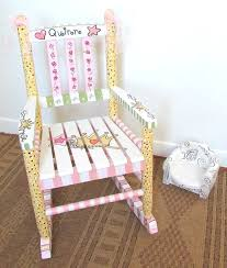 Kids Personalized Chairs Child Rocking Chair Painted Custom By Mollieburd On Etsy 150 00