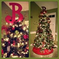 monogram tree topper we used our southern nest monogram as our tree topper in our