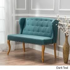 amazon com eva natural beige tufted fabric loveseat kitchen u0026 dining