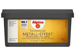 wandgestaltung gold alpina farbrezepte metall effekt gold 1 l kaufen bei obi
