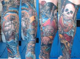 pirate ship tattoo sleeve pirate 12 sleeve by wes