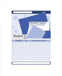 report card template pdf sle homeschool report card 5 documents in pdf word excel