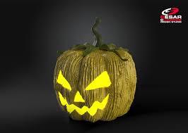 artstation halloween pumpkin zbrush 3d cesar cuadros r