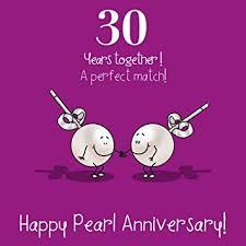 30 wedding anniversary 30th wedding anniversary greetings card pearl anniversary