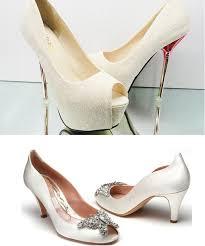 Wedding Shoes Small Heel High Heel Or Low Heel Bridal Shoes