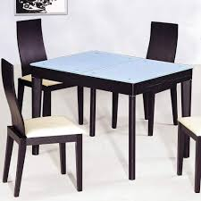 extendable wooden with glass top modern dining table sets columbus