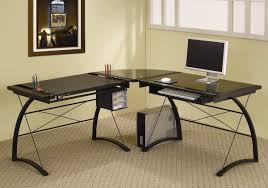 Glass L Shaped Desk Home Design Best L Shape Computer Desk Designs Eas And Decor