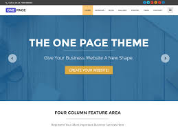 Free Homepage For Website Design One Page U2014 Free Wordpress Themes