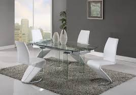 7 piece white modern dining set imex furniture